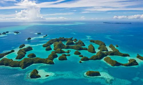 Quốc đảo Palau gồm khoảng 340 đảo nằm ở tây Thái Bình Dương. Ảnh: National Graphic.