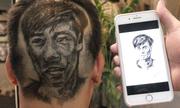 Nhiều người khắc hình cầu thủ Olympic lên tóc khi đội vào bán kết