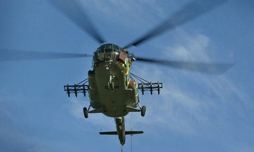 Một trực thăng quân sự Mi-8 do Nga sản xuất. Ảnh: I24News.