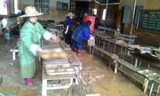 Trường học ở Sơn La ngập bùn đất sau lũ