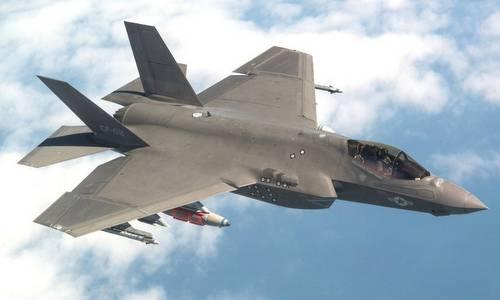 Tiêm kích F-35C cho hải quân Mỹ bay thử đầu năm nay. Ảnh: Lockheed Martin.
