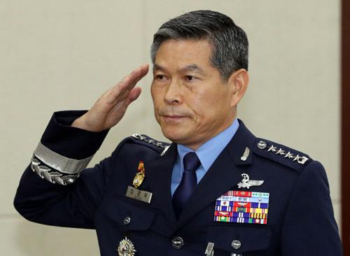Bộ trưởng Quốc phòng được đề cử Jeong Kyeong-doo tham dự một phiên họp của quốc hội hồi tháng 7. Ảnh: Yonhap.