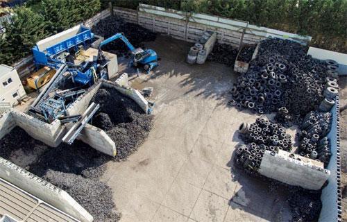 Những chiếc lốp thải loại tạo ra cả một ngành công nghiệp tái chế lốp. Ảnh: Comet.