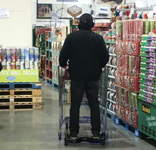 Khi người lười đi siêu thị.