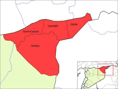 Vị trí tỉnh Al-Hasakah ở đông bắc Syria. Đồ họa: Mapsof.