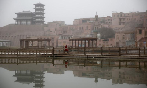 Một thị trấn cổ ở khu tự trị Duy Ngô Nhĩ Tân Cương, Trung Quốc. Ảnh: Reuters.