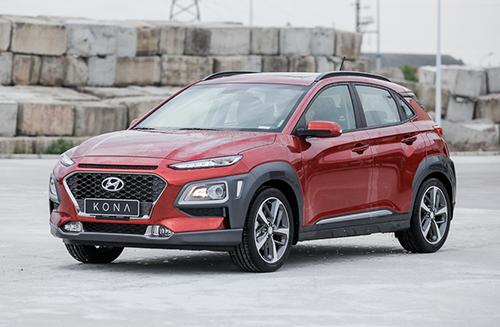 Hyundai Kona tại nhà máy của hãng tại Ninh Bình. Ảnh: Lương Dũng.