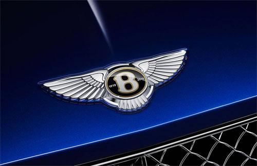 Logo của xe Bentley sản xuất trong 2019 có cặp số 1919-2019