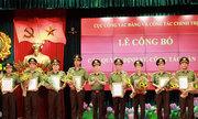 Nhiều tướng công an được bổ nhiệm làm lãnh đạo đơn vị