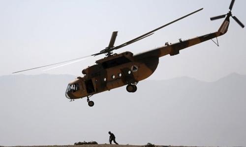 Một trực thăng quân sự của Afghanistan. Ảnh: Reuters.