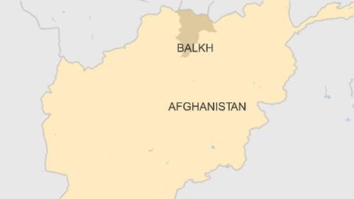 Vị trí tỉnh Balkh, Afghanistan. Ảnh: BBC.