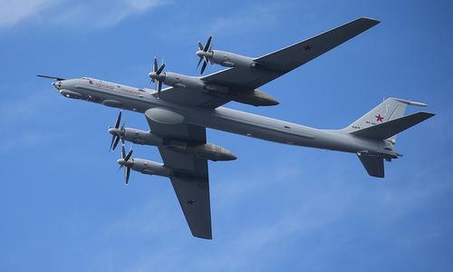 Máy bay săn ngầm và tuần thám biển Tu-142 của Nga. Ảnh: TASS.