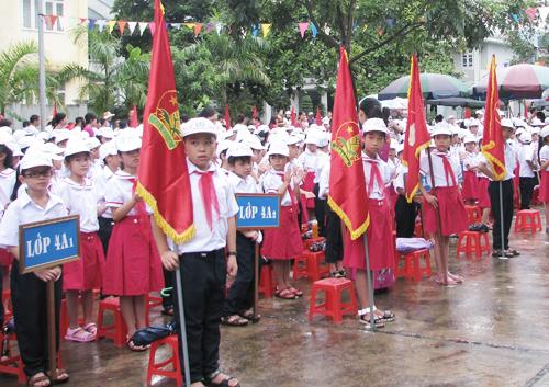 Lễ khai giảng của học sinh Quảng Ninh năm học 2016. Ảnh: Minh Cương