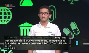 Phần thi khởi động của Nguyễn Hoàng Cường