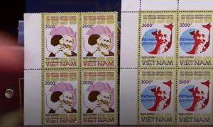 Họa sĩ vẽ tem Chủ tịch Hồ Chí Minh