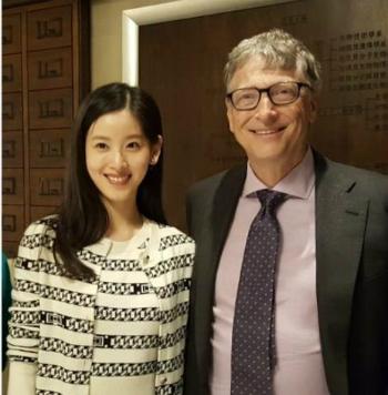 Chương Trạch Thiên (trái) và Bill Gates gặp nhaunăm 2017. Ảnh: Instagram.