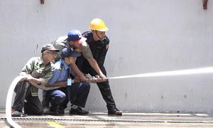 Cảnh sát nghiệm thu hệ thống PCCC chung cư Carina