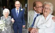 Cụ ông 91 tuổi làm đám cưới với bạn tri kỷ 92 tuổi ở Anh