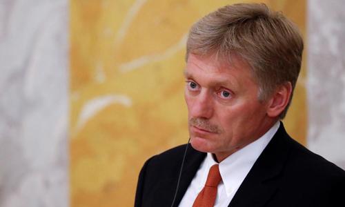 Phát ngôn viên Điện Kremlin Dmitry Peskov trongbuổi họp báo hôm 24/5 tại thành phố St. Petersburg, Nga. Ảnh: Reuters.