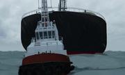 'Tàu ma' dài 177 mét dạt vào bờ biển Myanmar