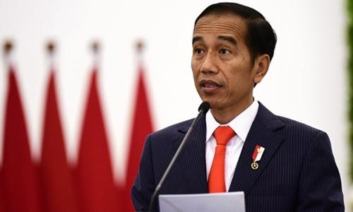 Tổng thốngIndonesia Joko Widodo tại cuộc họp báo ở Bogor ngày 31/8. Ảnh: AFP.