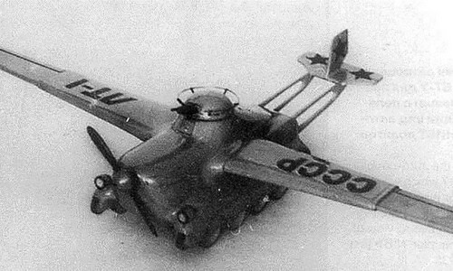 Mô hình xe tăng bay MAS-1 được chế tạo năm 1936. Ảnh: RBTH.