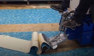 Cỗ máy có thể cạo bay mọi vật liệu dưới sàn nhà