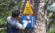Cắm 38 biển báo trên cung đường trekking Tà Năng - Phan Dũng