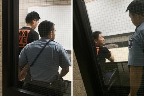 Hình ảnh Lưu Cường Đông tại sở cảnh sát hạtHennepin, bang Minnesota hôm 31/8. Ảnh: WSJ.