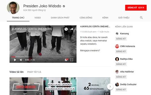 Kênh Youtube của Tổng thống Indonesia. Ảnh chụp màn hình.