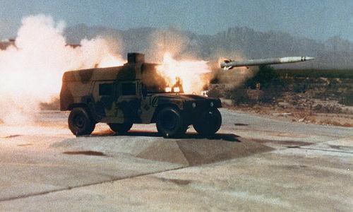Tên lửa LOSAT trong đợt thử nghiệm năm 2002. Ảnh: Lockheed Martin.