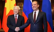 Tổng Bí thư Nguyễn Phú Trọng hội kiến Thủ tướng Nga