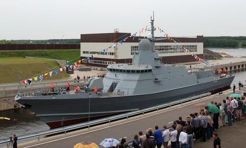 Chiếc đầu tiên thuộc lớp Karakurt sau lễ hạ thủy năm 2017. Ảnh: USC.
