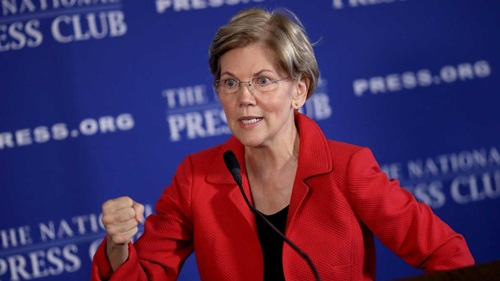 Thượng nghị sĩ Mỹ Elizabeth Warren. Ảnh: AFP.