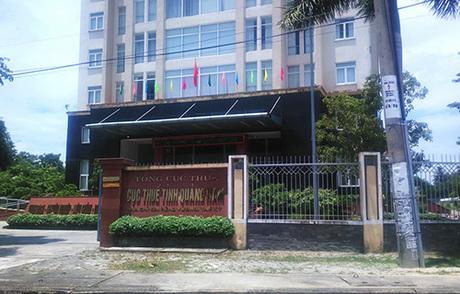 Cục thuế Quảng Nam - nơi cá nhân thu nhập từ Google đến kế khai nộp thuế. Ảnh: Đắc Thành.