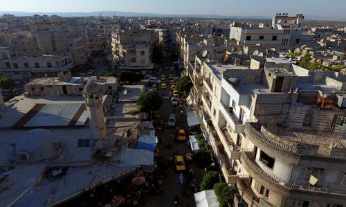Một góc thành phố Idlib, thủ phủ tỉnh Idlib, Syria. Ảnh: Reuters.
