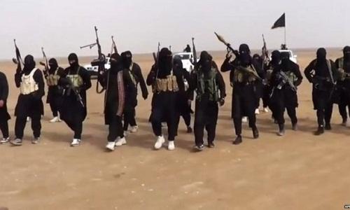 Phiến quân IS ở Syria. Ảnh:AP.