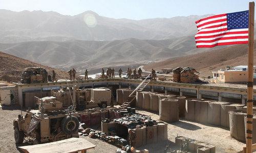 Lực lượng Mỹ triển khai tại căn cứ Al-Tanf đầu năm 2018. Ảnh:US Army.