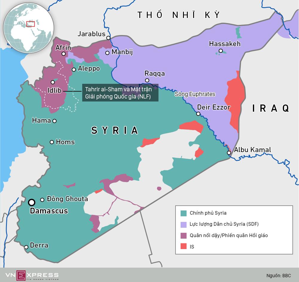 Lãnh thổ bị chia năm xẻ bảy ở Syria