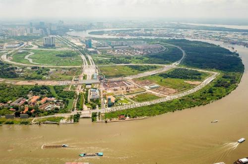 Khu đô thị Thủ Thiêm được kỳ vọng là trung tâm tài chính tầm cỡ khu vực. Ảnh: Quỳnh Trần