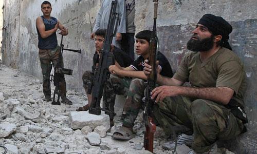 Quân nổi dậy ở miền nam Syria trước khi bị đánh bại hồi tháng 7. Ảnh: Reuters.