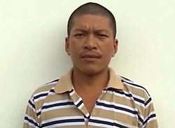 Nguyễn Hữu Đức tại cơ quan điều tra. Ảnh: Lan Vy