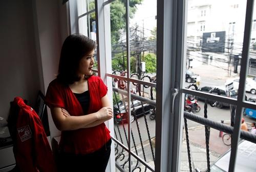 Grace Natalie, chủ tịch đảng Đoàn kết Indonesia. Ảnh: Reuters.