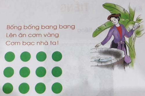 Học sinh được tự do chọn hình khối, màu sắc đểbiểu thị cho các tiếng, theo phương pháp đánh vần của Tiếng Việt lớp 1 Công nghệ giáo dục. Ảnh: Quỳnh Trang.