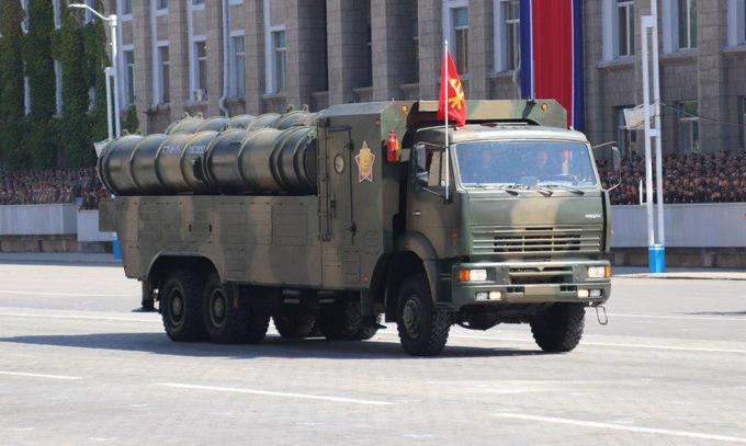 Dàn vũ khí Triều Tiên phô diễn trong lễ duyệt binh mừng quốc khánh