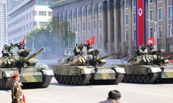 Xe tăng Pokpung-ho (Bão phong Hổ) hiện đại nhất trong biên chế Triều Tiên. Ảnh: NK Pro.