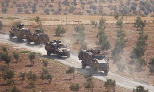 Đoàn xe của Thổ Nhĩ Kỳ ở biên giới Syria hồi năm 2017. Ảnh: Almasdar.