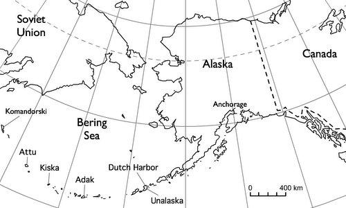 Chuỗi đảo Aleutian nằm ở phía bắc Thái Bình Dương. Đồ họa: Wikipedia.