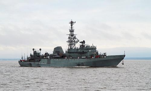 Tàu trinh sát Yuri Ivanov của hải quân Nga. Ảnh: Navy Recongition.