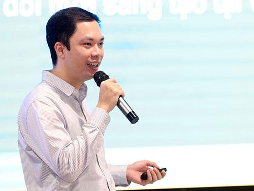 Ông Phan Dũng Nam, Văn phòng đề án 844 chia sẻ thông tin chiều 10/9 tại Hà Nội. Ảnh: Anh Tuấn.